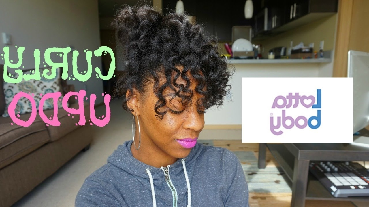 Natural Hair Curly Updo + Heatless | T'keyah B – Youtube For Natural Curly Updo Hairstyles (View 5 of 15)