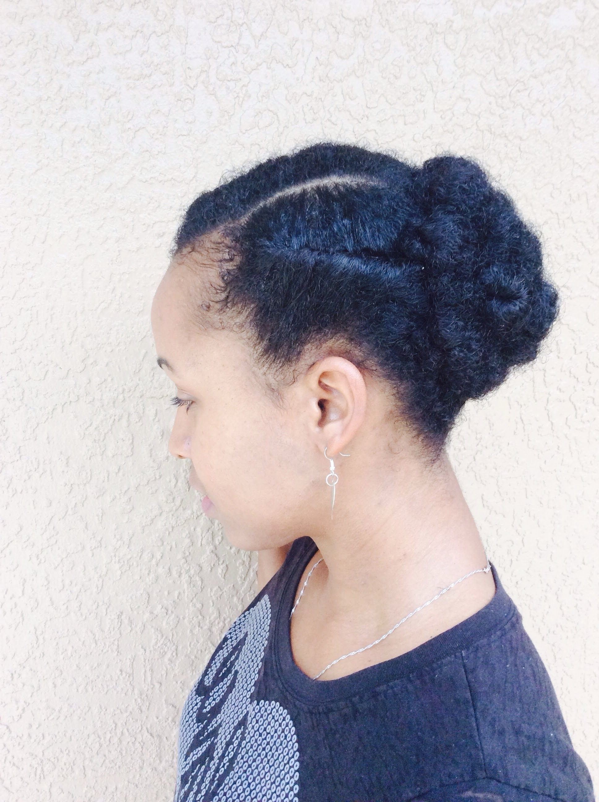 Natural Hair| Easy Protective Style Updo Short/medium Length With Regard To Natural Hair Updos For Short Hair (View 10 of 15)