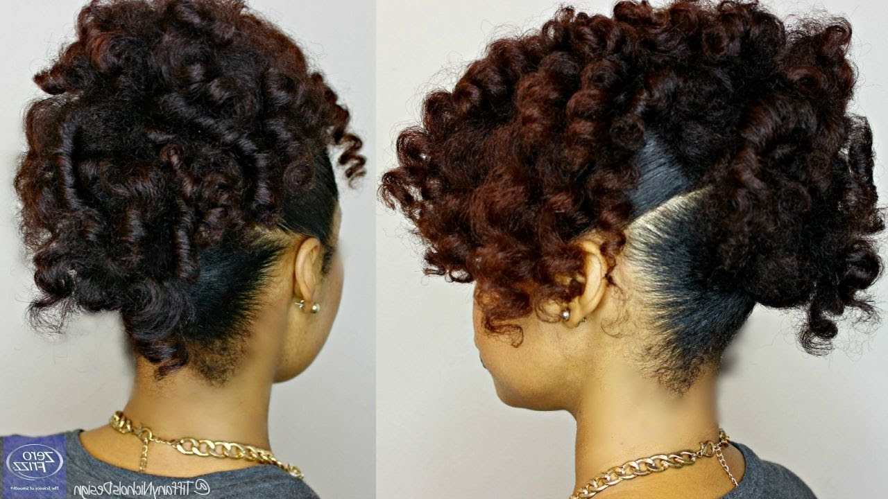 Natural Hair | Heatless Curly Updo Feat (View 10 of 15)