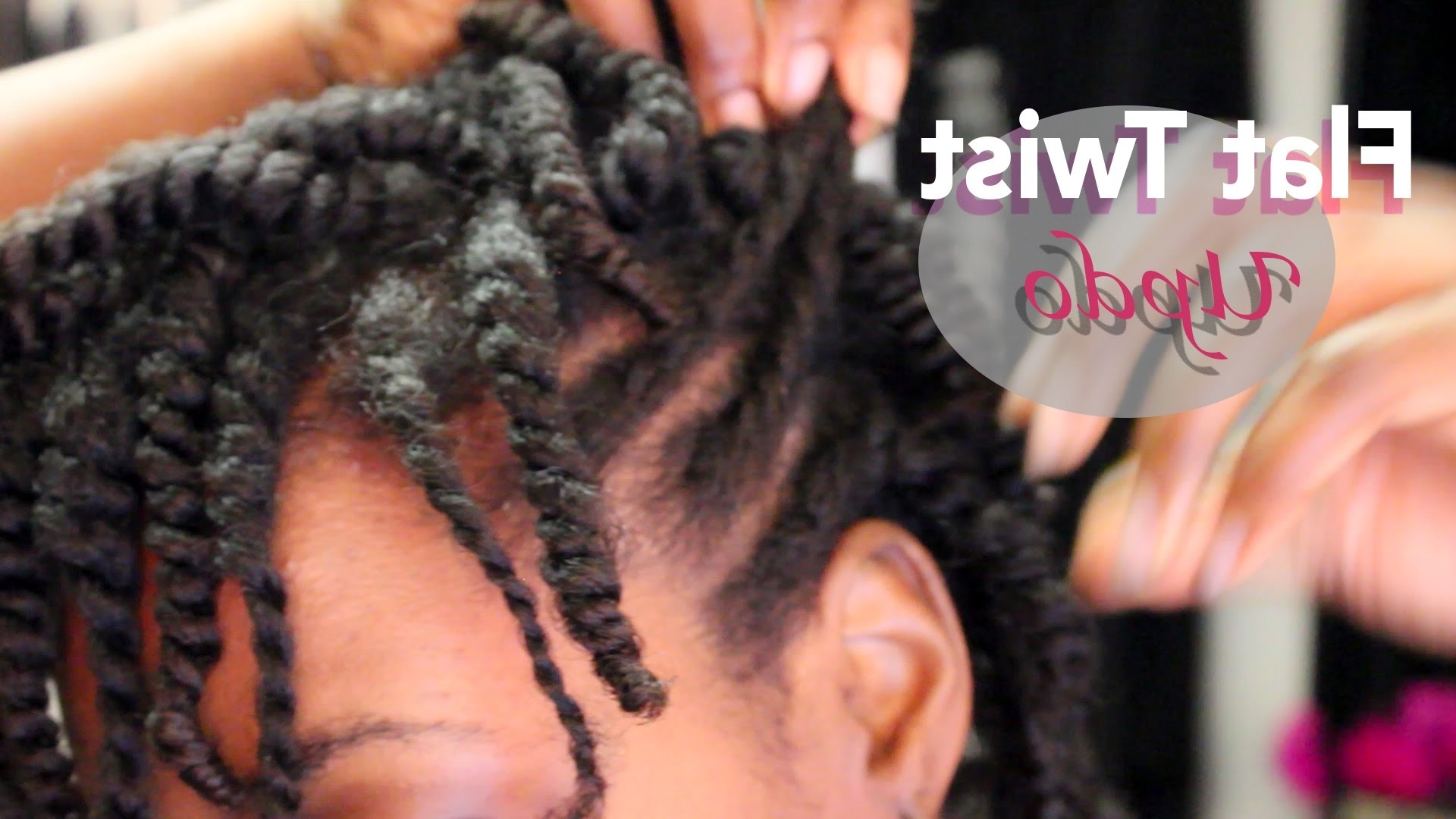 Natural Hair Protective Styling Flat Twist Updo|beautycutright – Youtube Pertaining To Flat Twist Updo Hairstyles On Natural Hair (View 11 of 15)