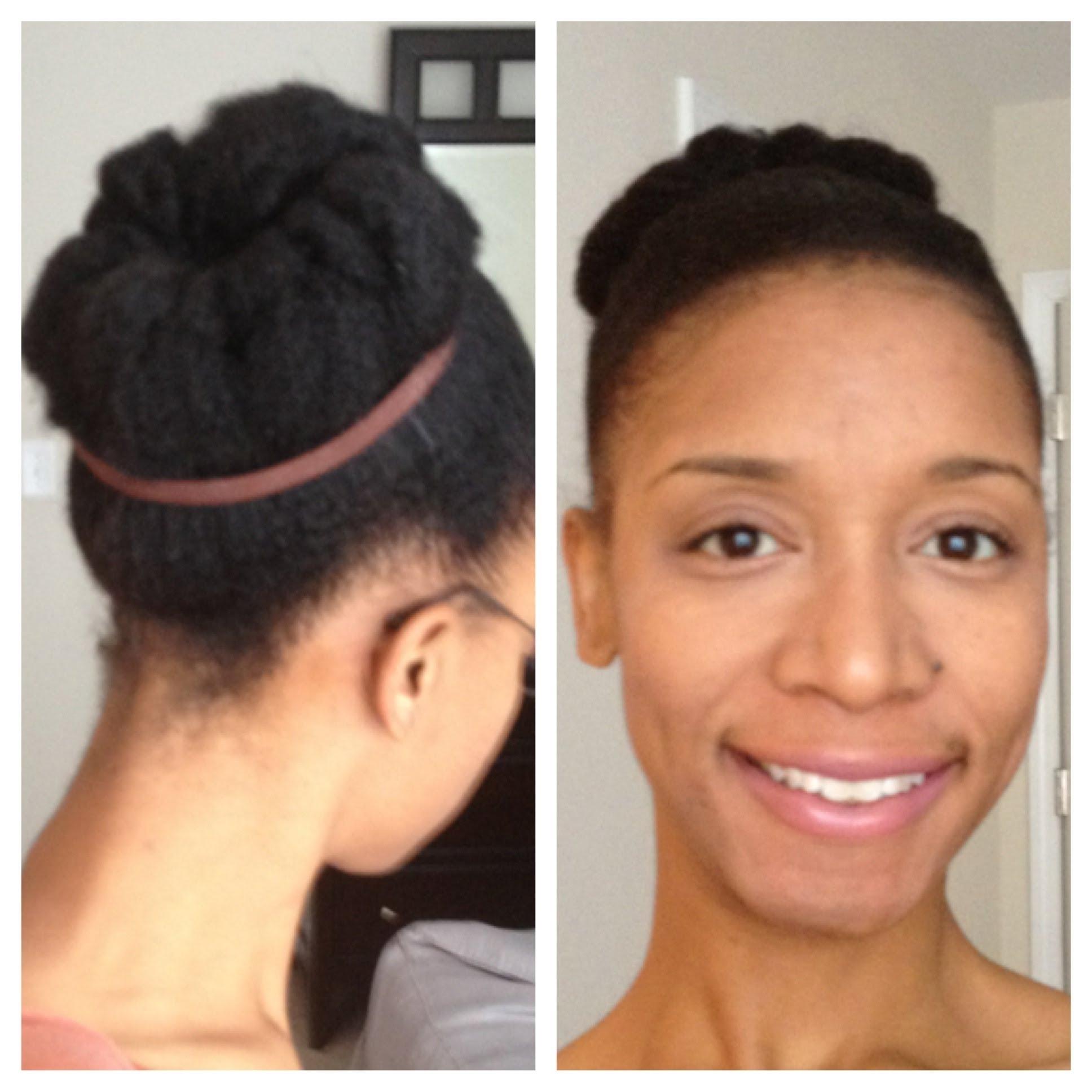 Natural Hair Styles – Natural Hair Bun – Youtube Inside Natural Updo Bun Hairstyles (View 10 of 15)