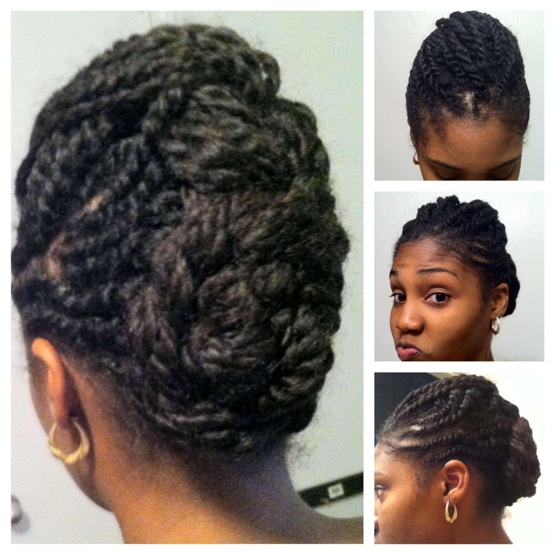 Photo Gallery of Two Strand Twist Updo Hairstyles For Natural Hair ...