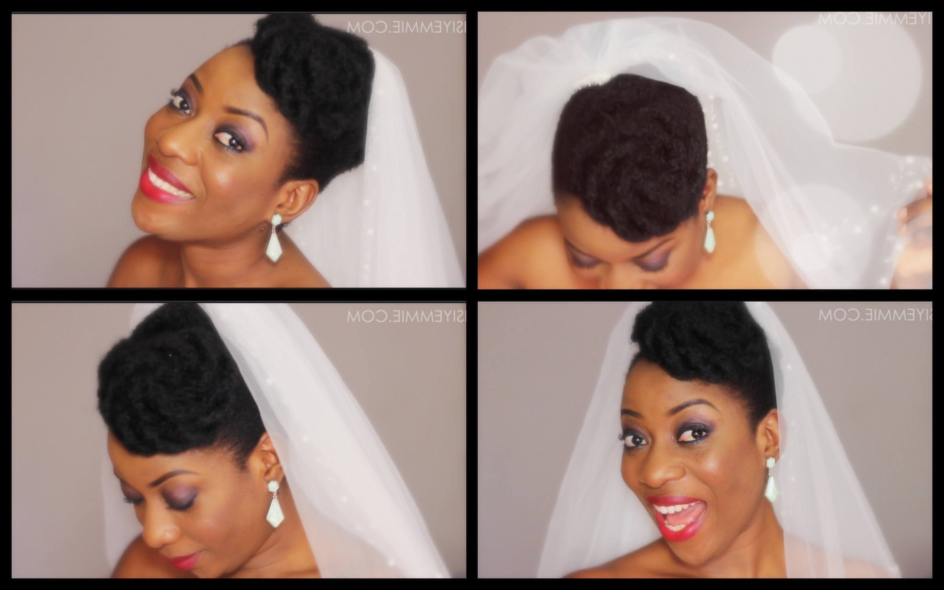 Natural Hair Updo : Bridal Inspired! – Youtube Within Natural Hair Wedding Updo Hairstyles (View 14 of 15)