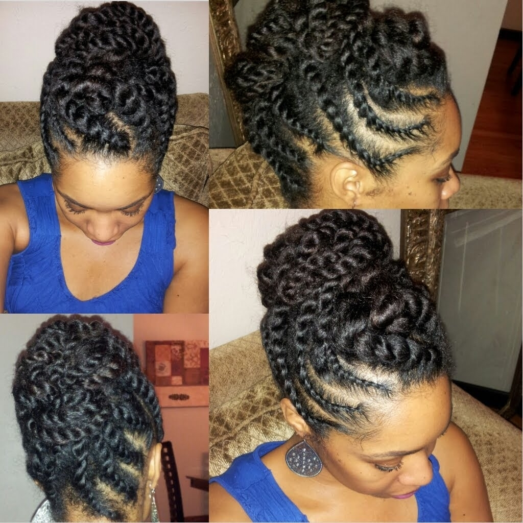 Natural Twist Updo Hairstyles Natural Hair Flat Twist Updo Regarding Natural Twist Updo Hairstyles (View 13 of 15)
