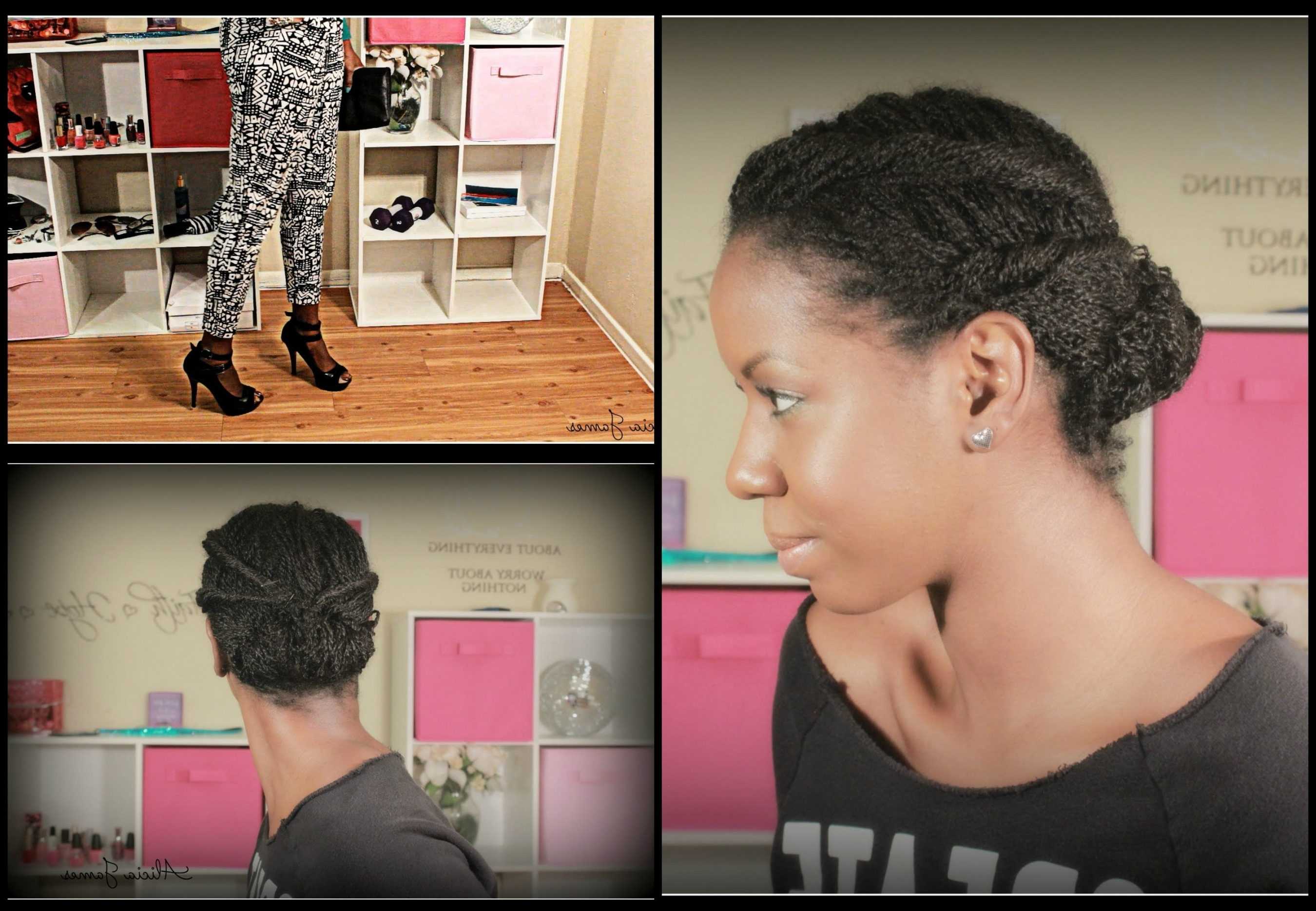 Photo Gallery Of 2 Strand Twist Updo Hairstyles Viewing 14 Of 15