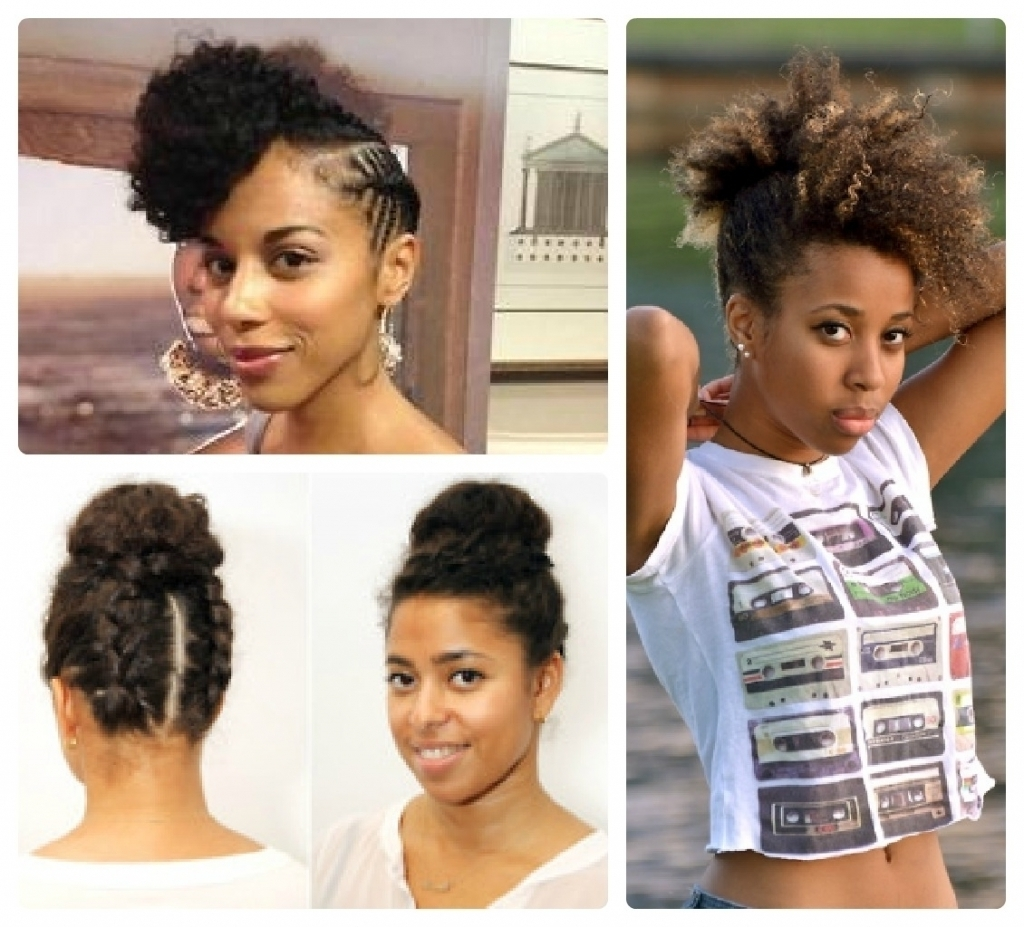 Natural Updos For Medium Length Hair Hairstyle For Natural Medium Pertaining To Natural Hair Updos For Medium Hair (View 8 of 15)