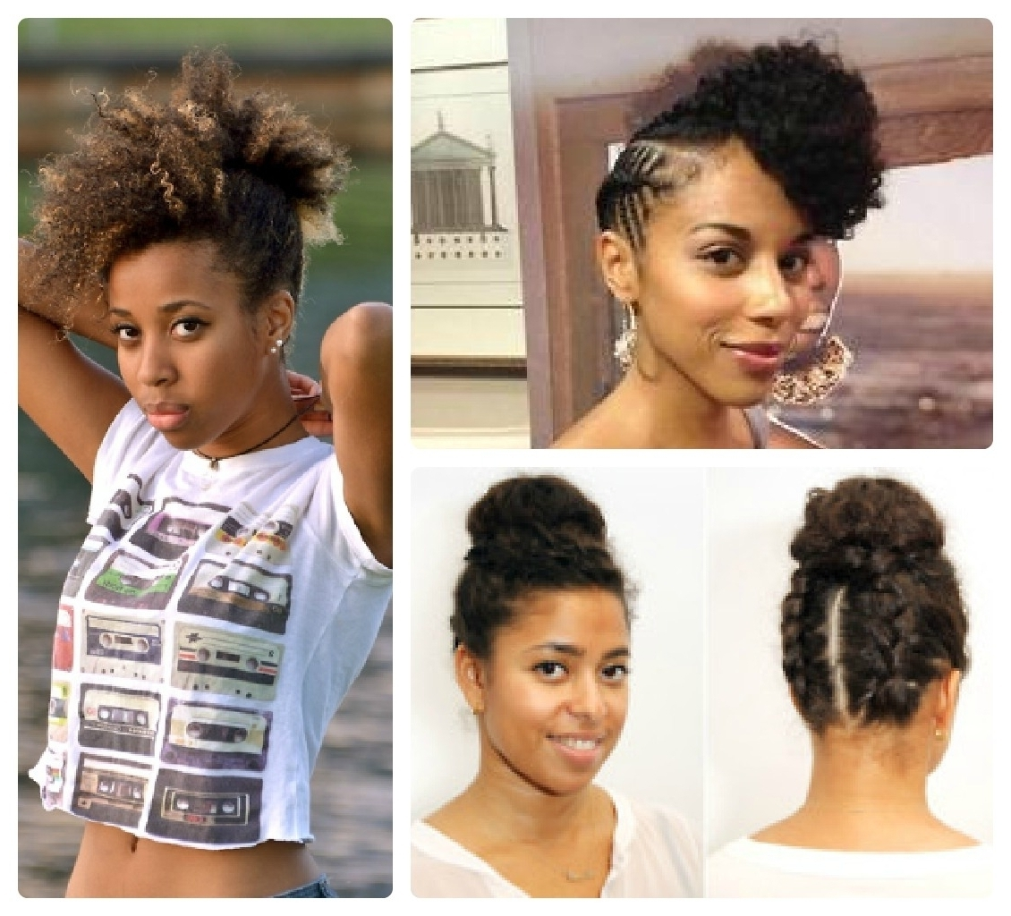 Natural Updos For Medium Length Hair – Women Medium Haircut Pertaining To Natural Hair Updos For Medium Hair (View 6 of 15)