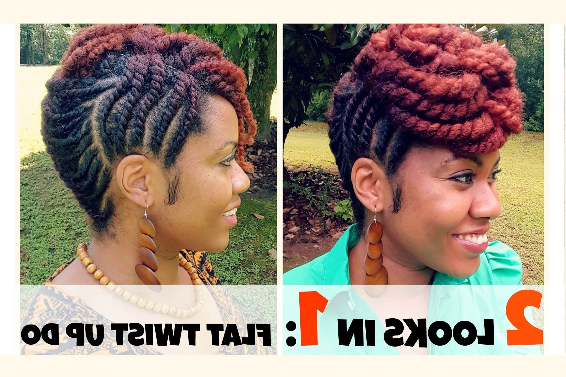 Naturally Michy | Flat Twist Updo Hairstyles – Youtube Pertaining To Twist Updo Hairstyles (View 9 of 15)