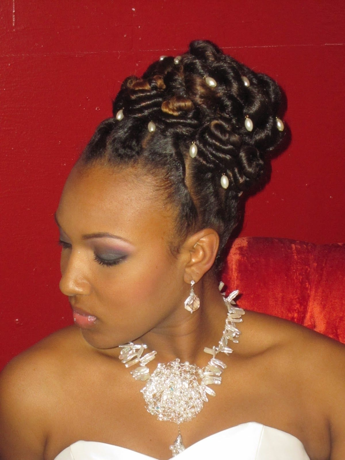 Natural+styles+for+weddings | Braids, Locs, Twists & Natural Hair Throughout Braids And Twist Updo Hairstyles (View 11 of 15)