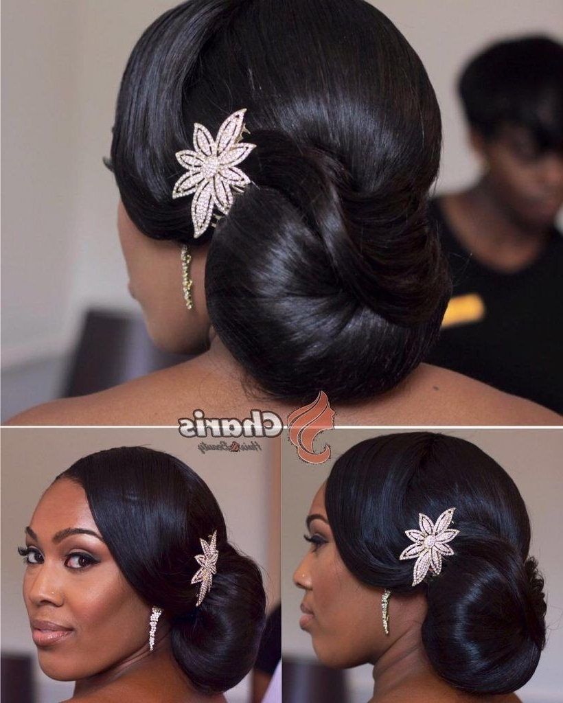 Ombre Hair Color Trends – Is The Silver #grannyhair Style | Bridal Pertaining To Updo Hairstyles For Weddings Black Hair (Gallery 1 of 15)