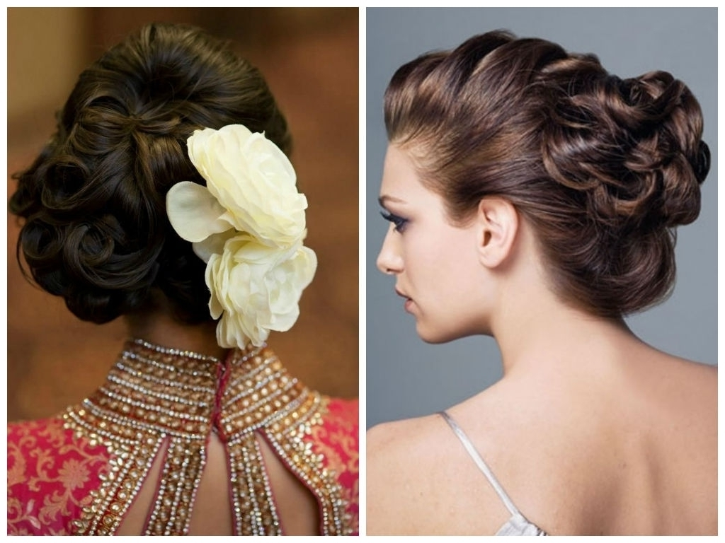 Part Updo Hairstyles 16 Spectacular Indian Bridal Hairstyles For Within Indian Updo Hairstyles (View 3 of 15)