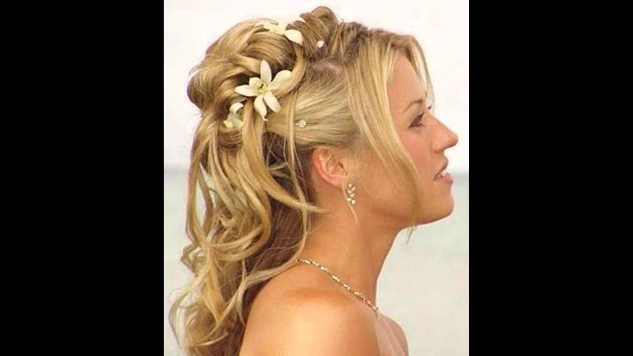 Partial Updo Wedding Hairstyles – Partial Updos For Weddings : Updos In Partial Updo Hairstyles For Long Hair (View 12 of 15)
