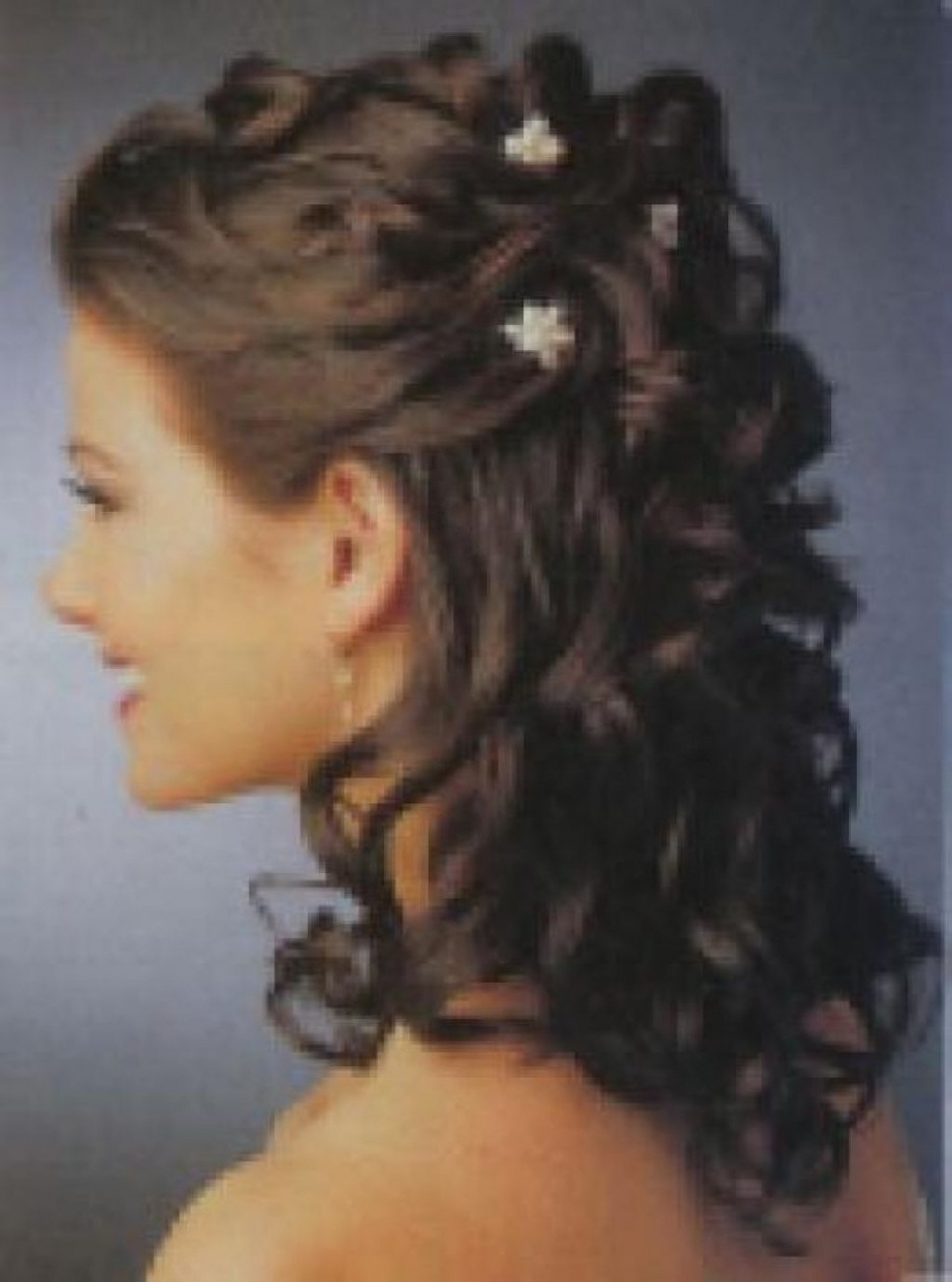 Partial Updos For Medium Length Hair Wedding – Girly Hairstyle Within Partial Updo Hairstyles For Long Hair (View 13 of 15)