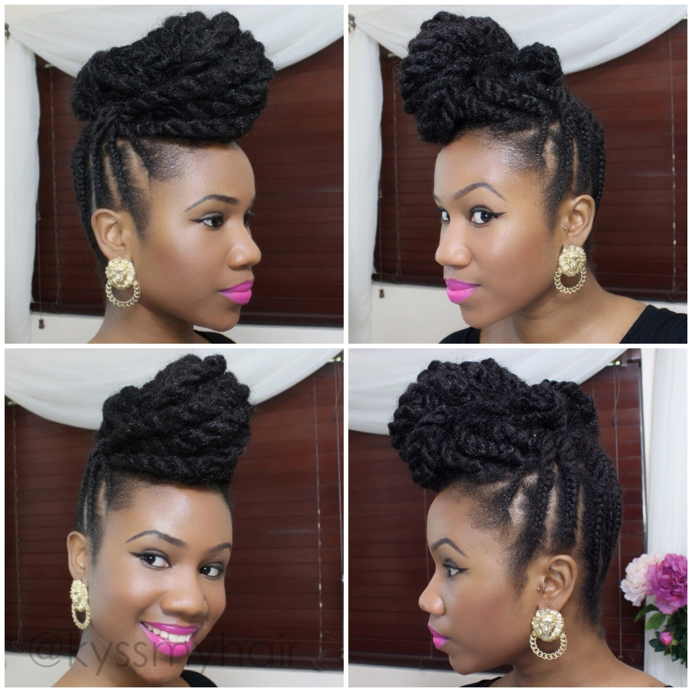 Photo: Natural Hair Braided Updo Hairstyles Braided Updo On Natural Pertaining To Natural Updo Hairstyles With Braids (View 14 of 15)