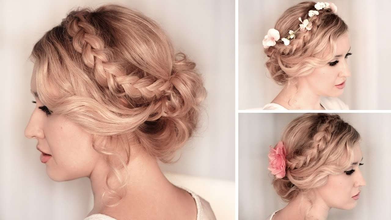 Photo: Prom Hairstyles With Braids On The Side Thin Hair Braided With Regard To Bridesmaid Updo Hairstyles For Thin Hair (View 7 of 15)