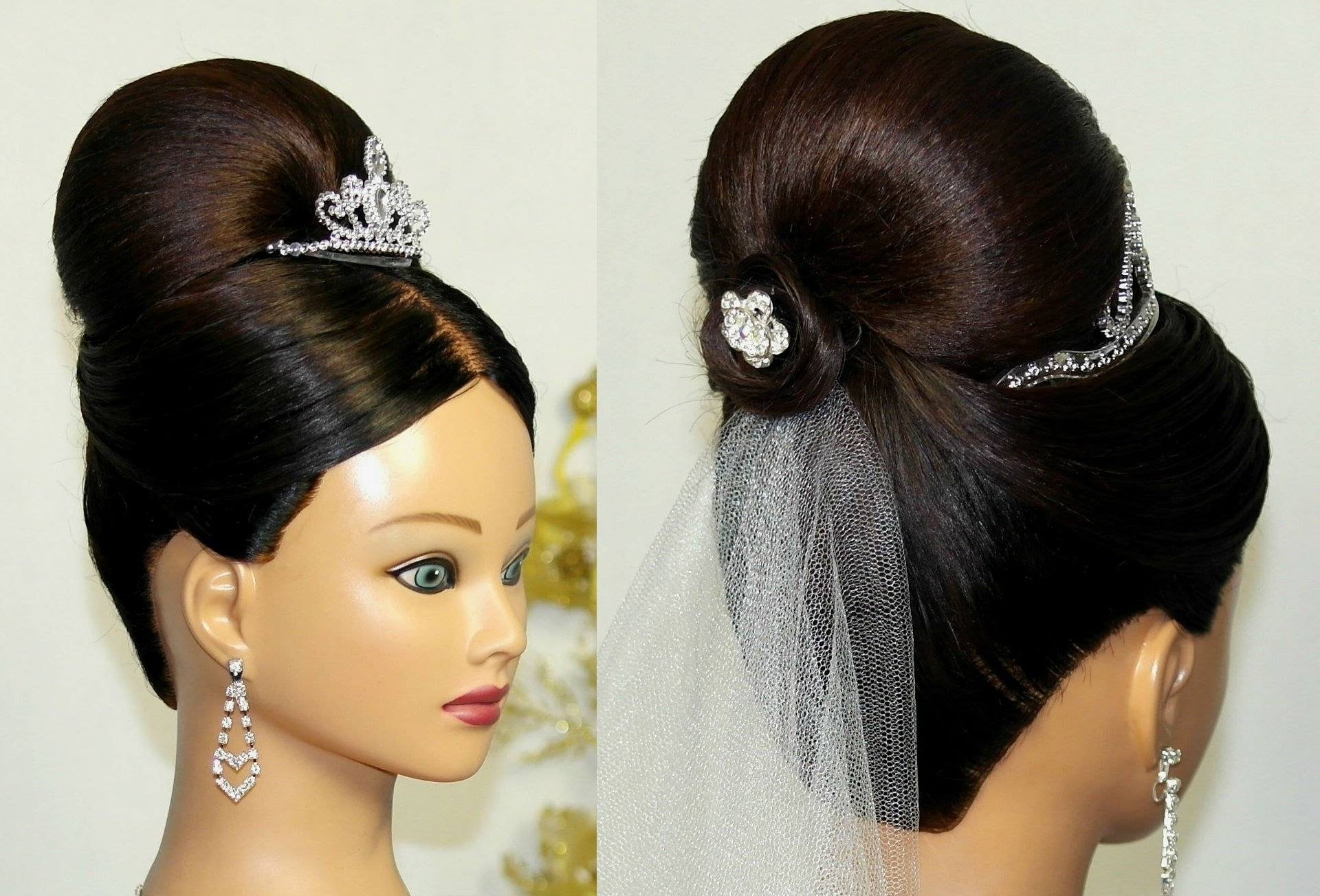 Photo: Wedding Hairstyles For Medium Hair Bun Bridal Updo Bun Inside Bridal Bun Updo Hairstyles (View 7 of 15)