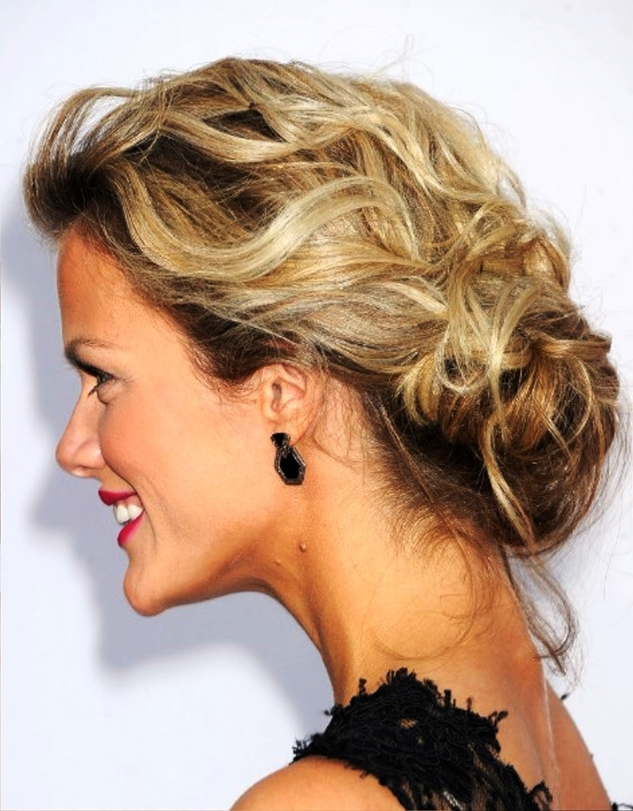 Pictures Of Brooklyn Decker Low Loose Bun Updo Intended For Loose Bun Updo Hairstyles (View 12 of 15)