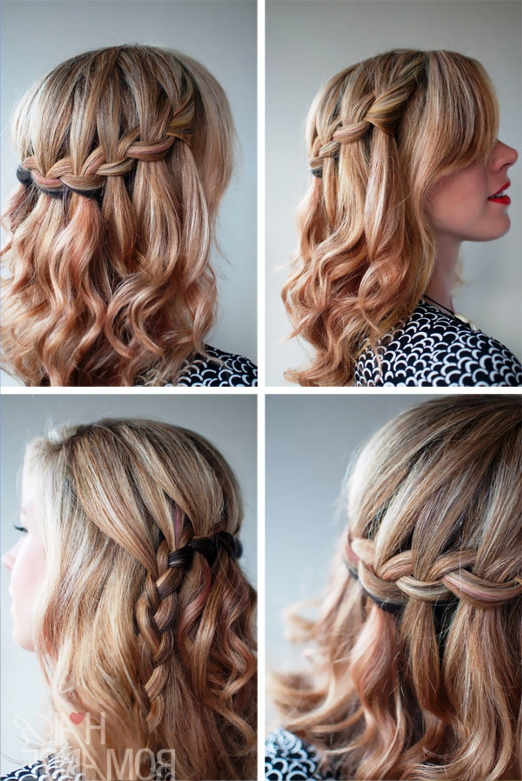Pictures Of The Waterfall Braid Half Updo 2013 Within Braided Half Updo Hairstyles (View 13 of 15)
