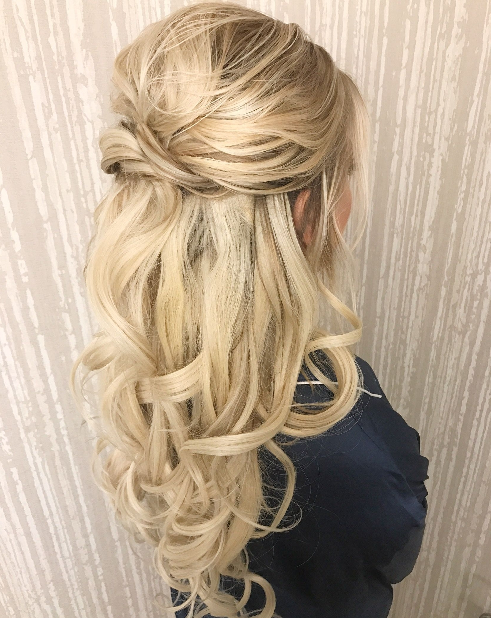 Pindania Scheibel On Hair | Pinterest | Wedding Hair Half, Hair With Curly Half Updo Hairstyles (View 3 of 15)