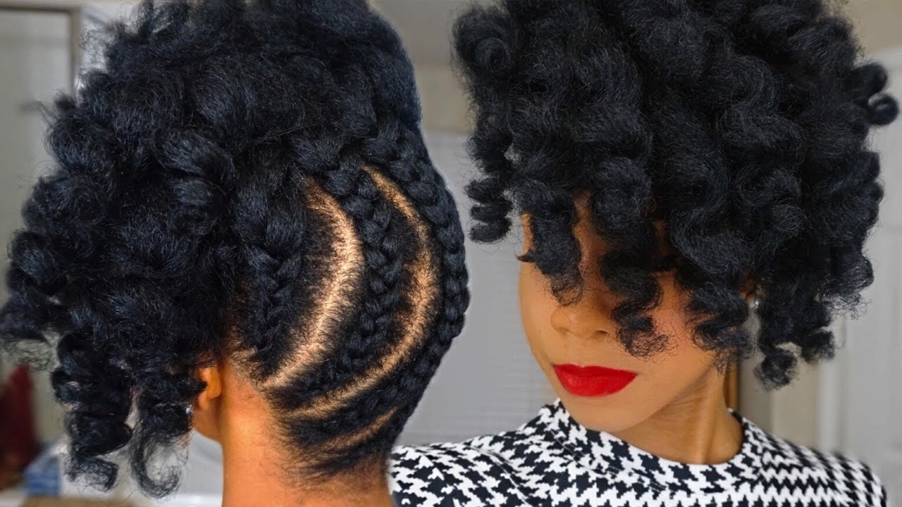 Pineapple Updo On Kinky Natural Hair – Youtube For Updos For Long Natural Hair (View 13 of 15)