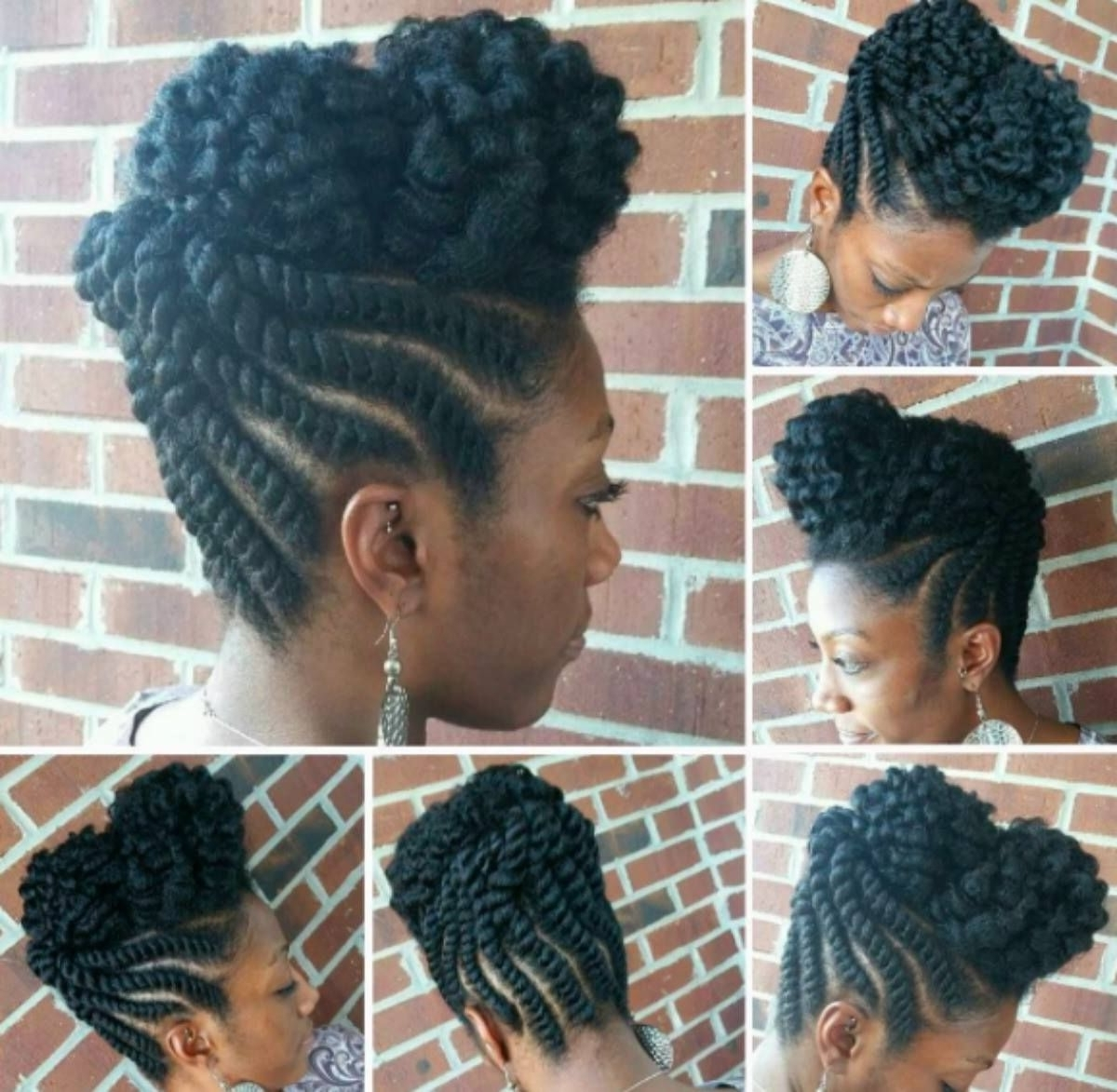 Pinleslie Anderson On Hair Style Ideas & Hair Products Pertaining To Flat Twist Updo Hairstyles On Natural Hair (View 4 of 15)