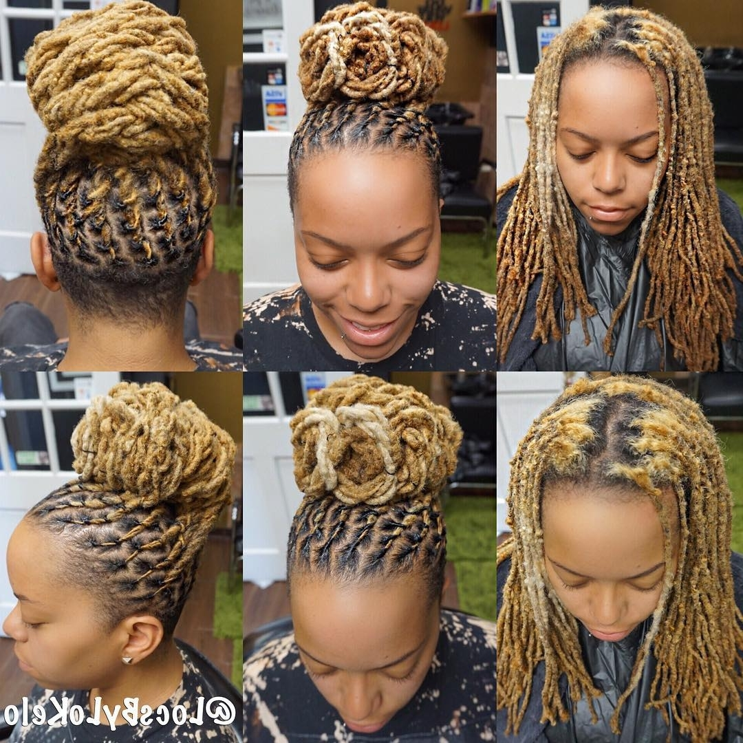 Pinmakayla Noelle On Locs | Pinterest | Twist Bun, Locs And Intended For Updo Hairstyles For Long Locs (View 12 of 15)