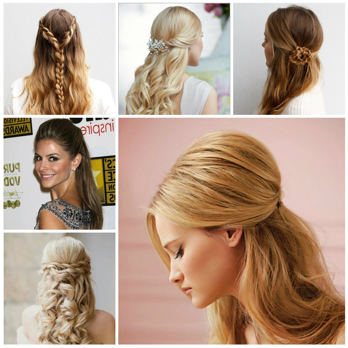 Pretty Half Updo Hairstyles For 2017 | New Haircuts To Try For 2018 Regarding Straight Hair Updo Hairstyles (View 5 of 15)