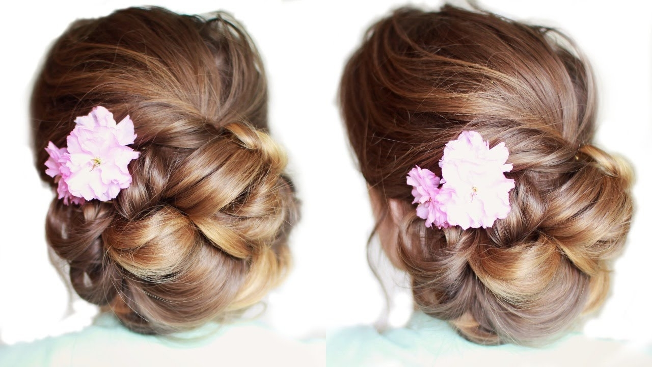 Pretty Updo For Medium / Long Hair | Updo Hairstyles Regarding Pretty Updo Hairstyles For Long Hair (View 7 of 15)