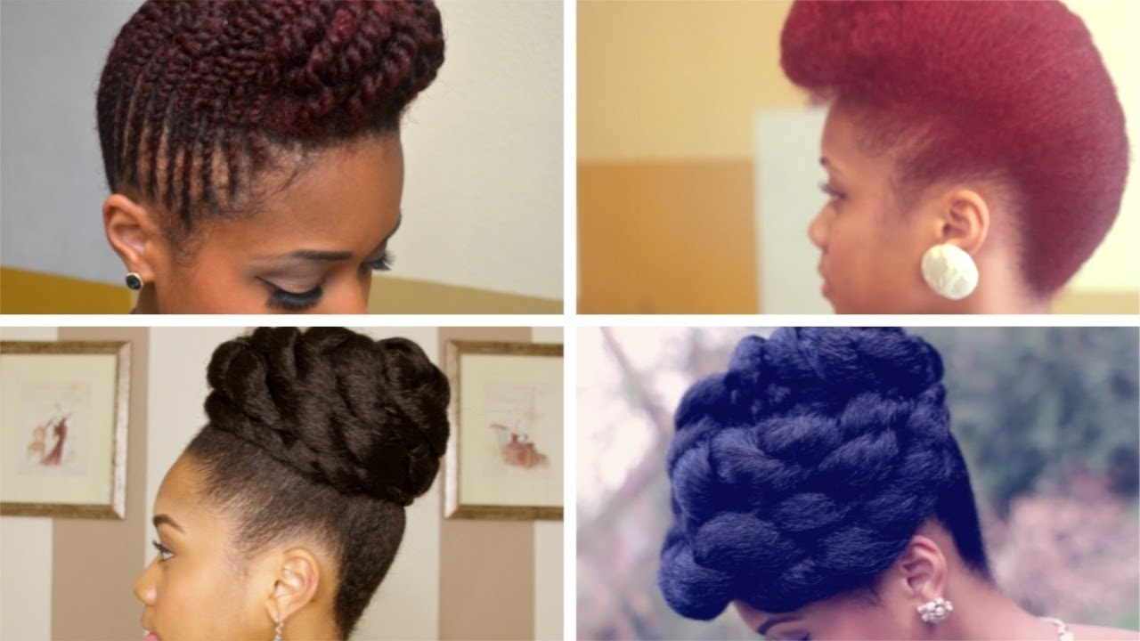 Prom Formal Updo Hairstyles On Natural Hair – Youtube Pertaining To Black Natural Hair Updo Hairstyles (View 6 of 15)