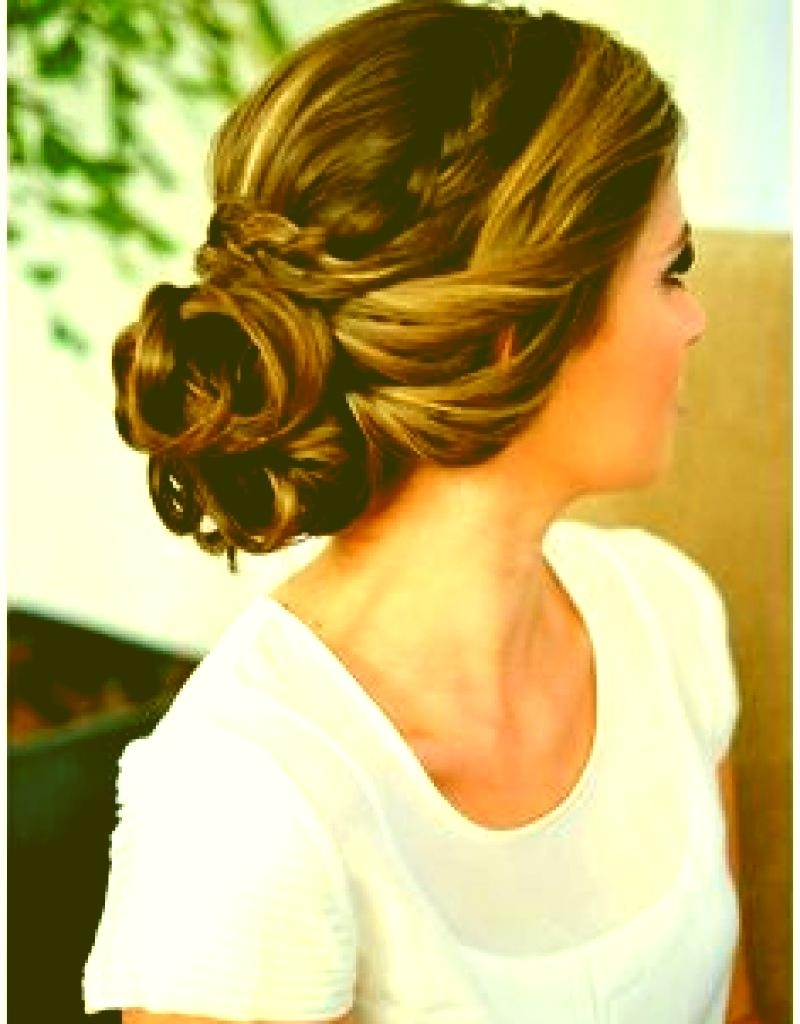 Prom Hair Updos With Braids And Curls Wedding Hairstyle Braids Curls Within Messy Updo Hairstyles For Prom (View 14 of 15)