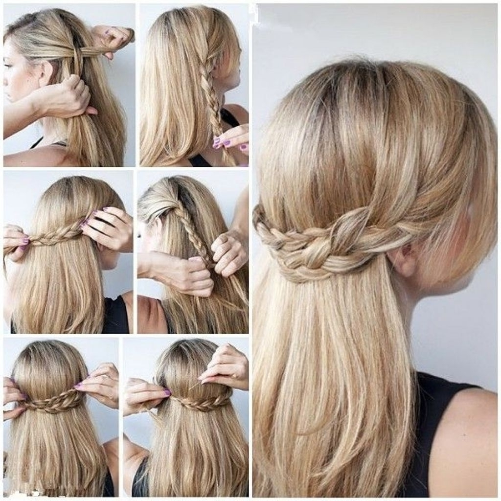 Prom Hairstyles For Long Hair Updos Pinterest Impressive Thick Curly With Regard To Cute Easy Updos For Long Hair (View 7 of 15)