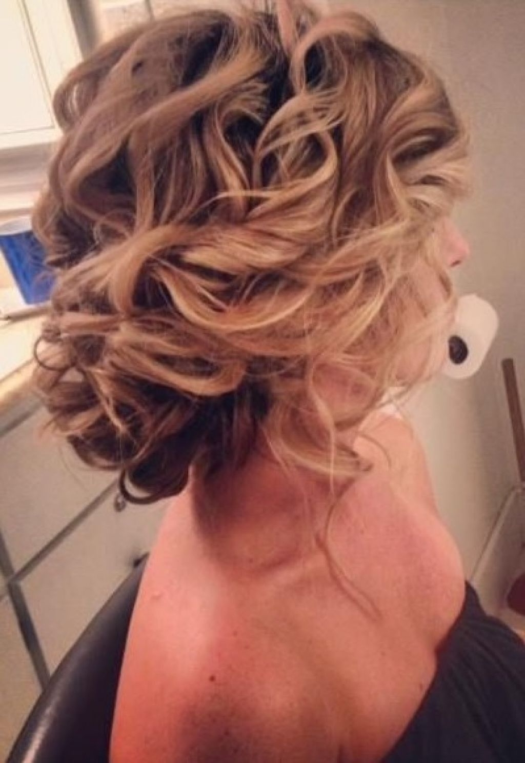 Prom Hairstyles For Medium Hair Down – Hairstyle For Women & Man Intended For Updos For Curly Hair (View 12 of 15)