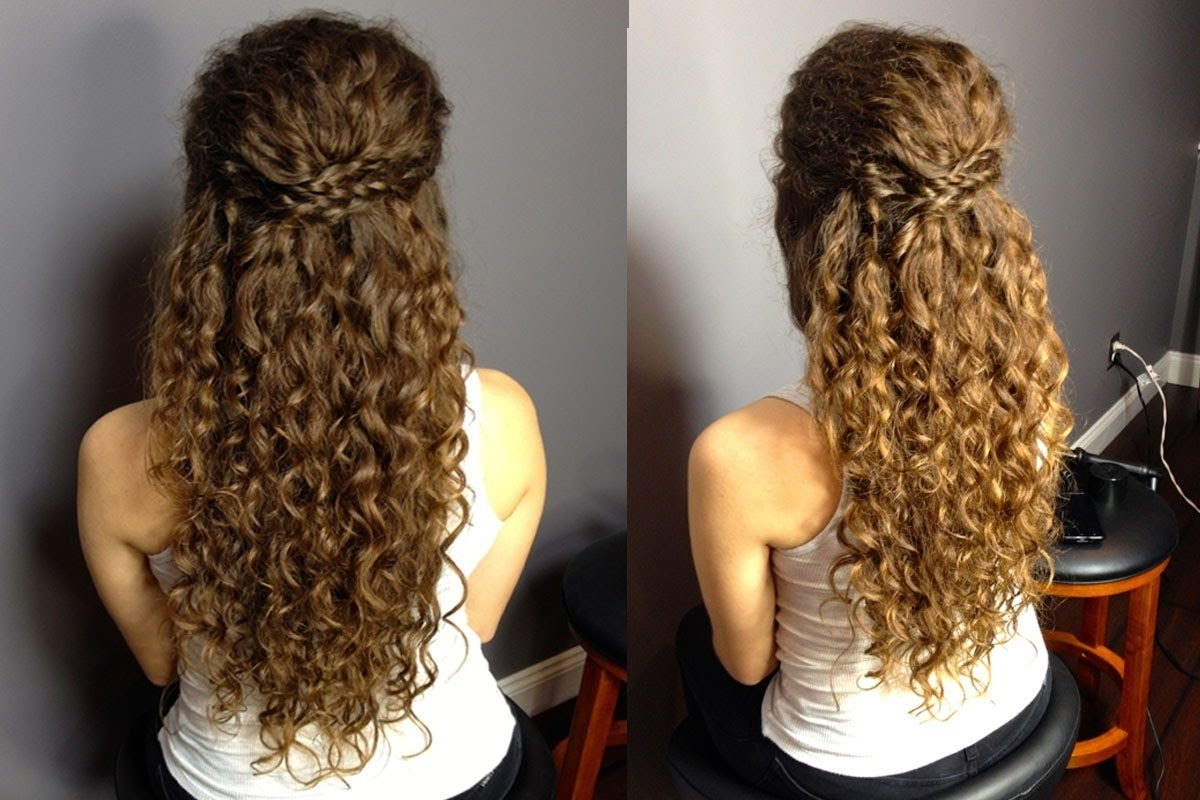 Prom Hairstyles For Natural Curly Hair Half Up Half Down Updo For For Naturally Curly Hair Updo Hairstyles (View 9 of 15)