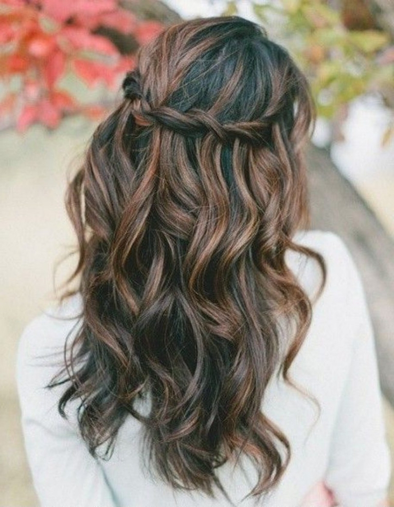 Prom Hairstyles Long Down For Wavy Hair Formal Stock Photos Hd With Regard To Wavy Hair Updo Hairstyles (View 14 of 15)