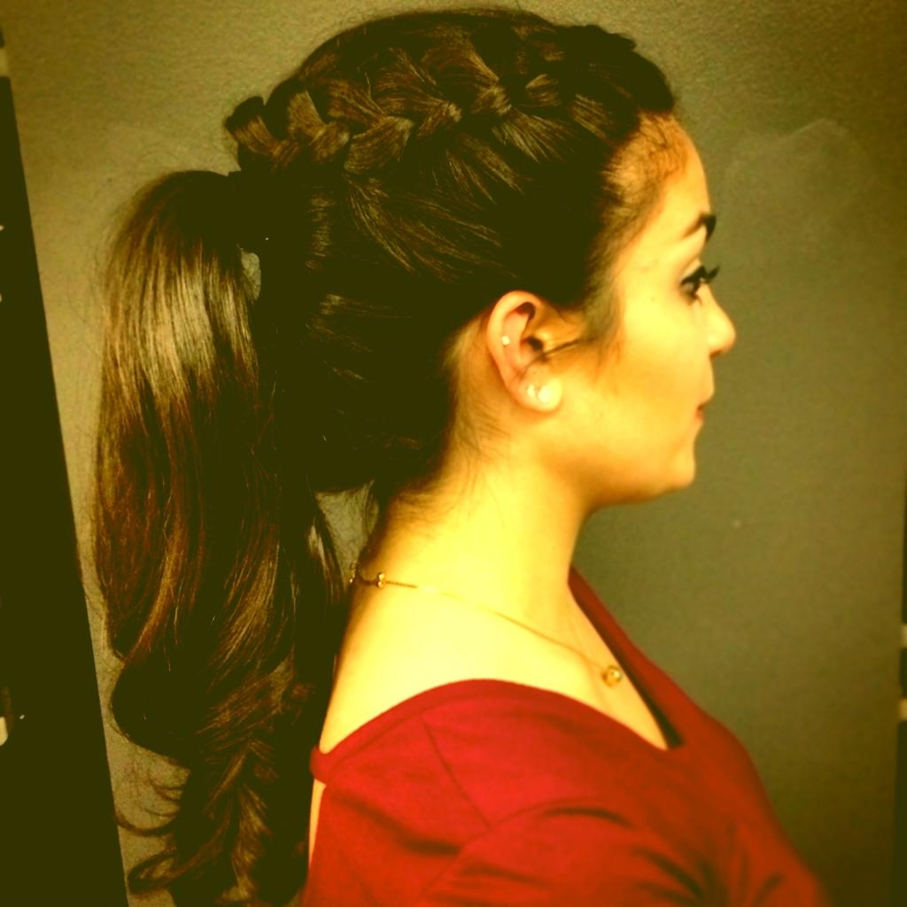 Prom Hairstyles Updo Ponytail Ponytail Updo Hairstyles Prom Ponytail In Ponytail Updo Hairstyles For Medium Hair (View 7 of 15)