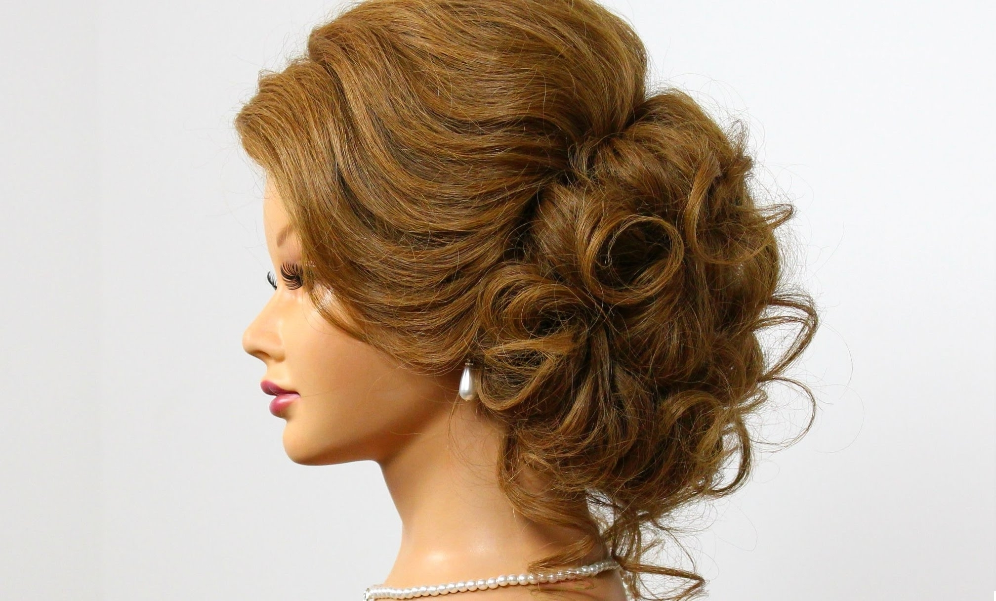 Photo Gallery Of Prom Updo Hairstyles For Medium Hair Viewing 3 Of