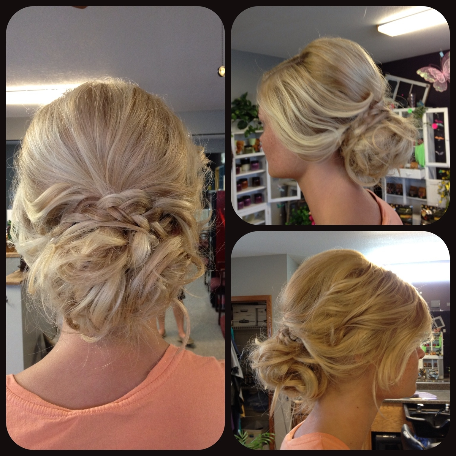 Prom Updo Upstyle Loose Messy Curly Curled Braid Blonde Wedding With Regard To Messy Updo Hairstyles For Prom (View 6 of 15)