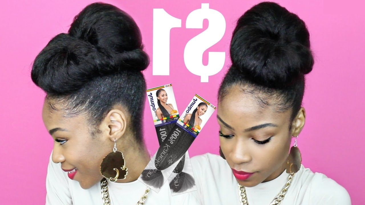 Protective Styles With Kanekalon Hair▻ Twisted Updo – Youtube Within Natural Hair Updo Hairstyles With Kanekalon Hair (View 7 of 15)
