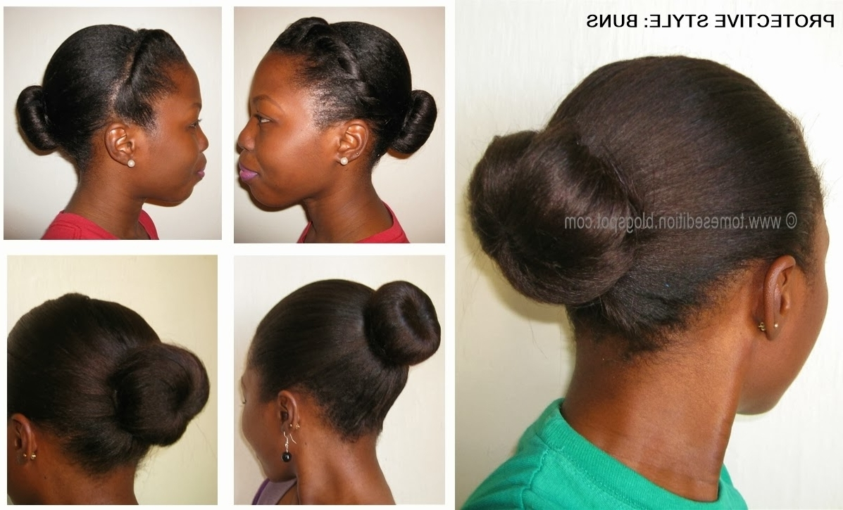 Protective Updo Hairstyles For Relaxed Hair Tomes Edition With Regard To Updo Hairstyles For Permed Hair (View 9 of 15)