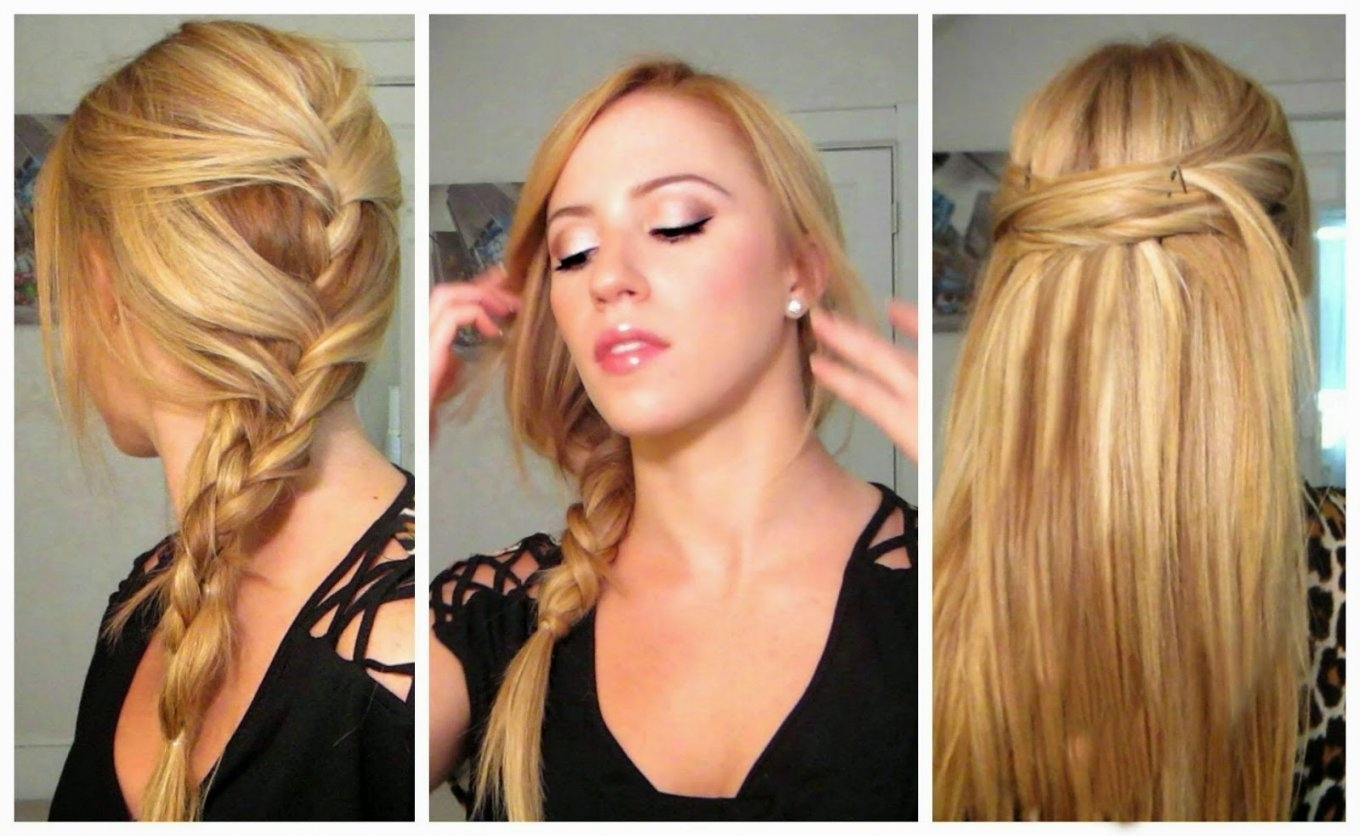 Quick And Easy Hairstyles For Long Hair Straight Hair – Hairstyle Within Quick And Easy Updos For Long Thin Hair (Gallery 7 of 15)