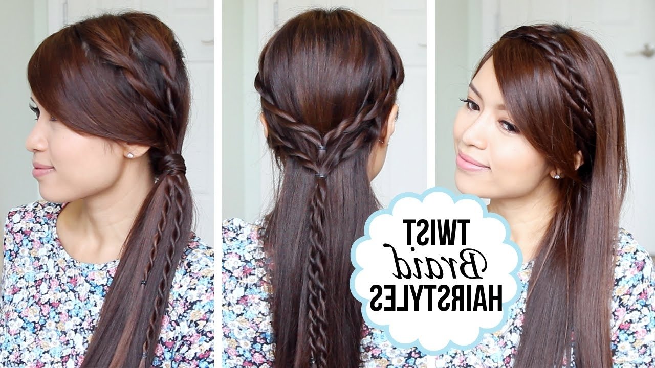 Quick And Easy Hairstyles With A Twist – Youtube In Quick Twist Updo Hairstyles (View 11 of 15)