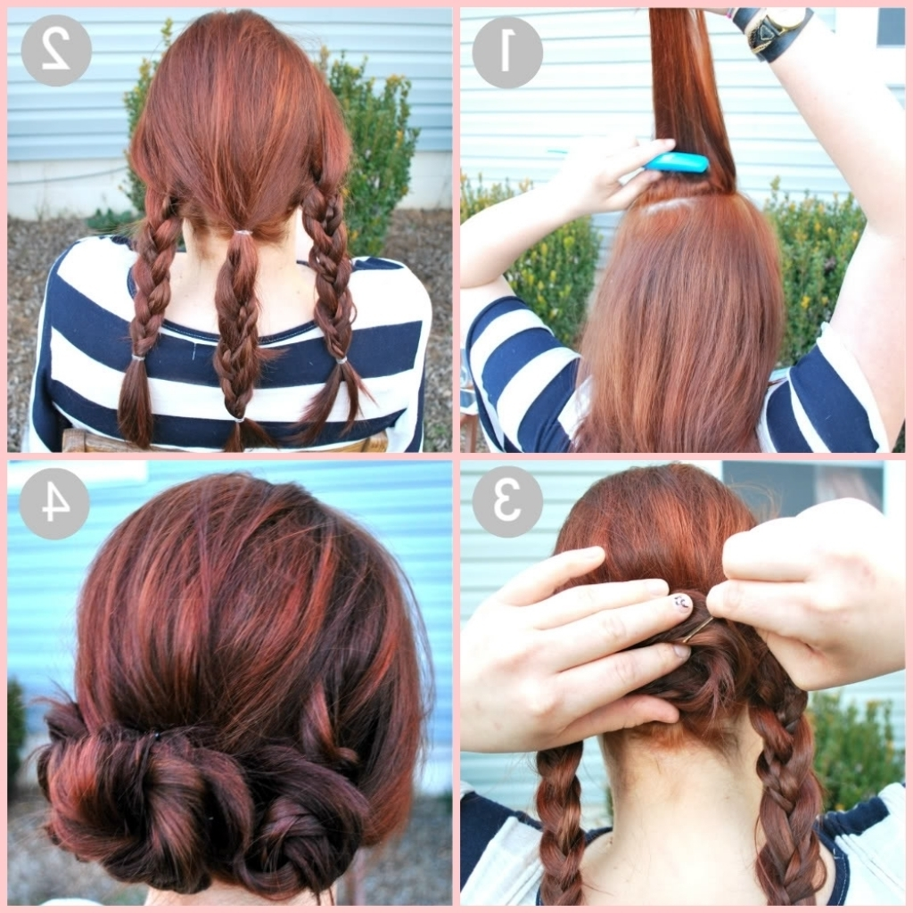 Quick And Easy Updo Hairstyles For Long Hair Quick Simple Hairstyles Pertaining To Easiest Updo Hairstyles For Long Hair (Gallery 14 of 15)