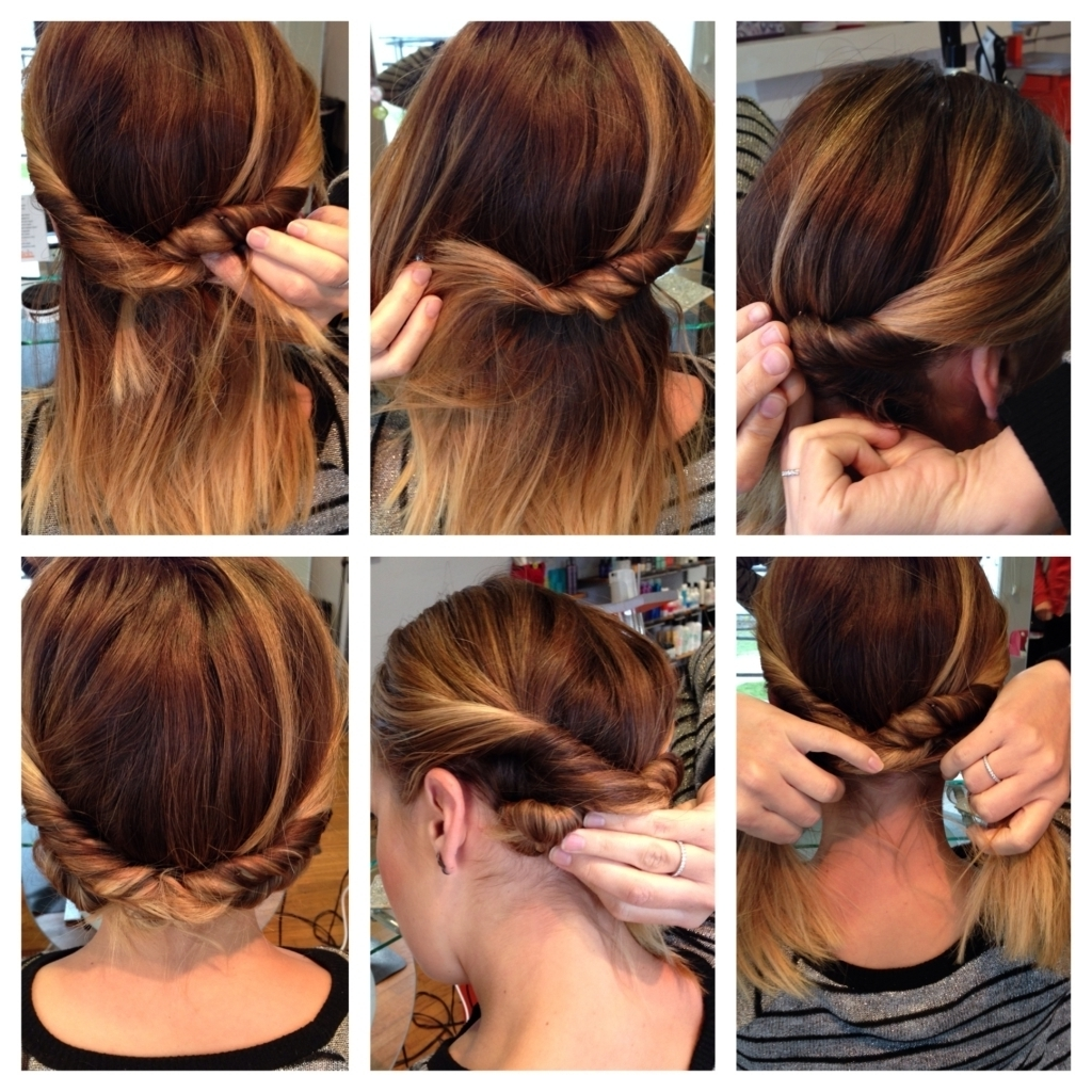 Quick And Easy Updo Hairstyles For Medium Length Hair Easy Fast Pertaining To Quick And Easy Updo Hairstyles For Medium Hair (Gallery 5 of 15)