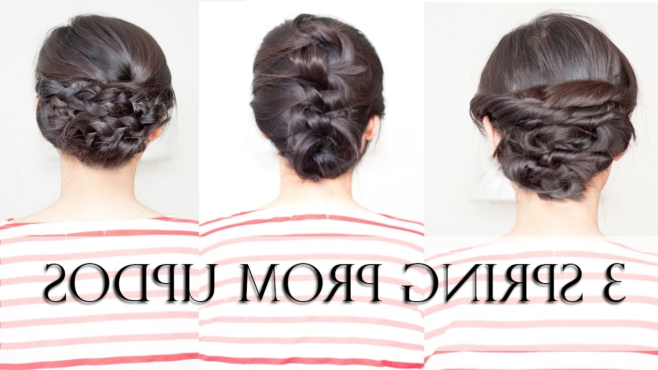 Quick And Easy Updos For Medium Imposing Diy Hair Updo Hairstyles Intended For Shoulder Length Updo Hairstyles (Gallery 8 of 15)