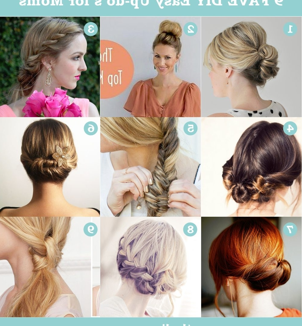 Quick And Easy Updos For Medium Imposing Diy Hair Updo Hairstyles Within Easy Diy Updos For Medium Length Hair (View 13 of 15)