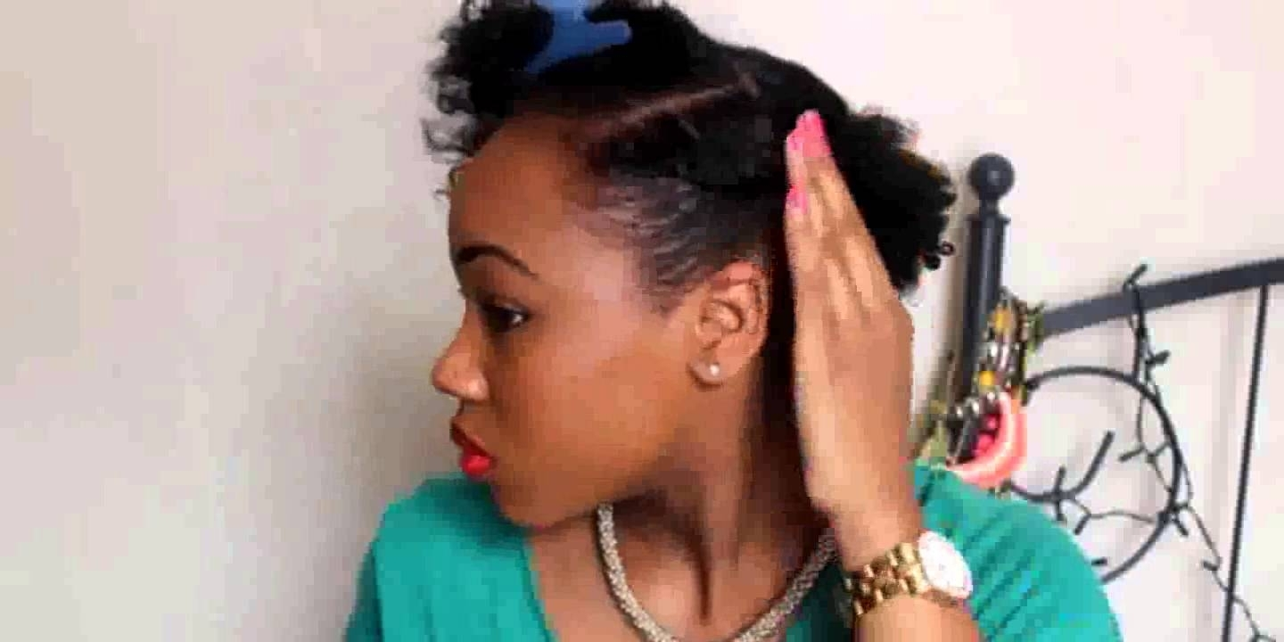 Quick Easy Hairstyles For Short Natural Hair – Youtube Pertaining To Quick Updos For Short Black Hair (View 12 of 15)