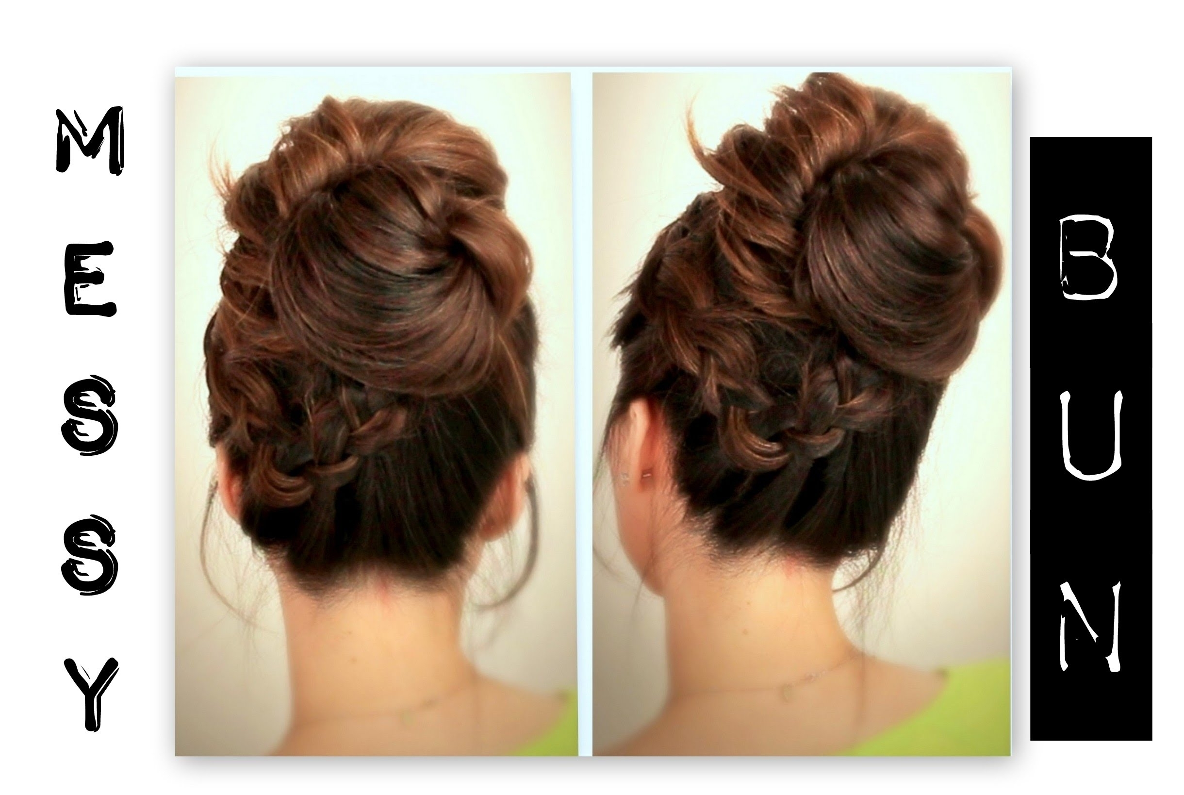 Quick Easy Updo Hairstyles ☆ Cute, Everyday School Hairstyles | Big Pertaining To Cute Easy Updo Hairstyles (Gallery 8 of 15)