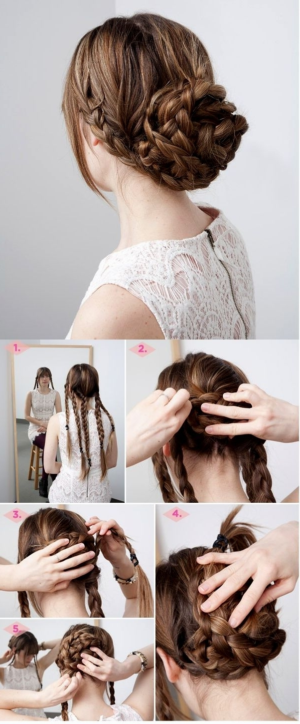 Quick Easy Updos For Long Thick Hair – Hairstyle Pop Pertaining To Quick Easy Updos For Long Thick Hair (View 13 of 15)