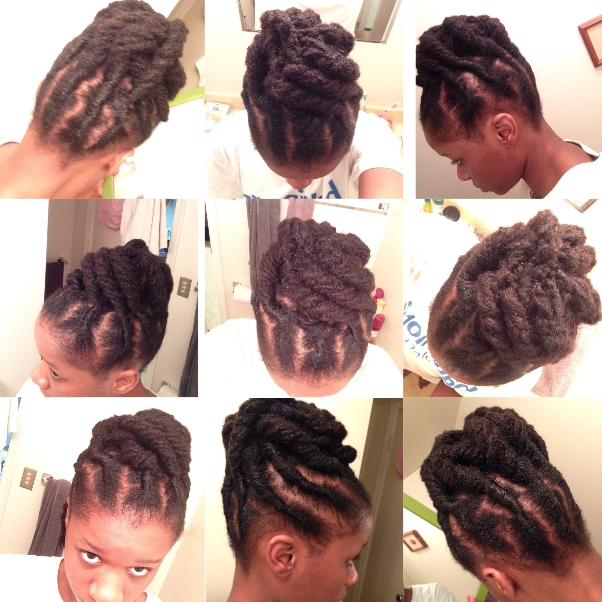 Quick Updo For Short Locs – Youtube Inside Lock Updo Hairstyles (Gallery 10 of 15)