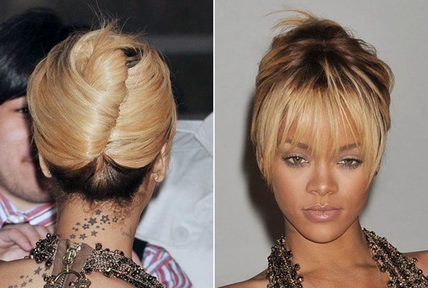 Rihanna French Twist Hairstyle | Medium Hair Styles Ideas – 9309 Within French Twist Updo Hairstyles For Short Hair (View 13 of 15)